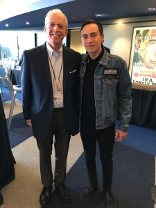 Chet with Keir Gilchrist (Star of Atypical)